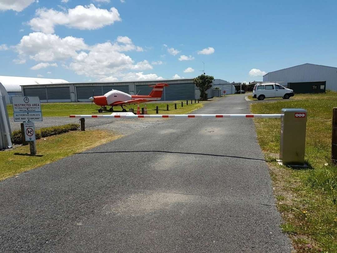 Traffic barrier control at ardmore airport